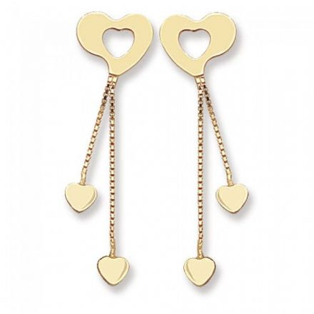 Just Gold Earrings -9Ct Drop Earrings, ES340